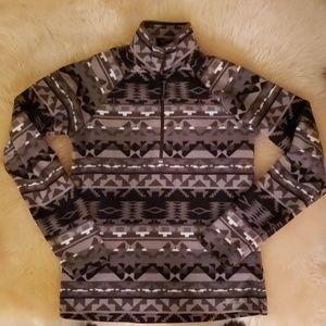 Eddie Bauer Quest Fleece 1/4 Zip Aztec Print